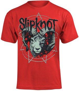 koszulka SLIPKNOT - RAM'S HEAD czerwona