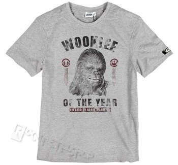 koszulka STAR WARS - WOOKIEE OF THE YEAR szary melanż