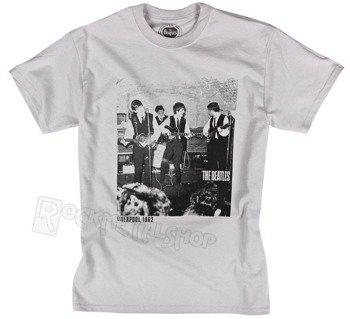 koszulka THE BEATLES - CAVERN 1962 jasnoszara