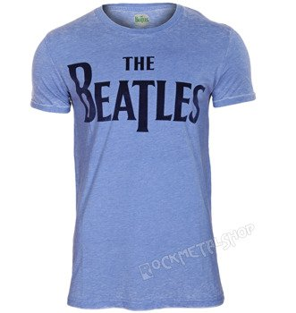 koszulka THE BEATLES - DROP T BURNOUT navy