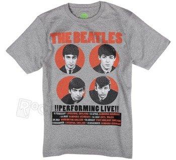 koszulka THE BEATLES - PERFORMING LIVE szary melanż