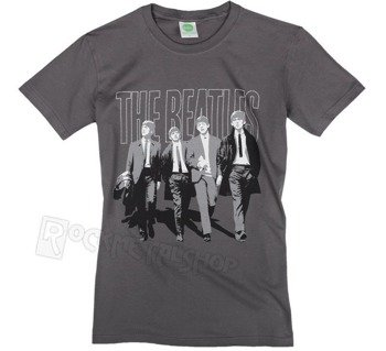 koszulka THE BEATLES - WALKING IN LONDON ON LOGO szara