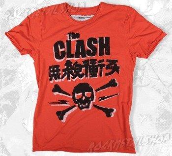koszulka THE CLASH - SKULL kolor łososiowy