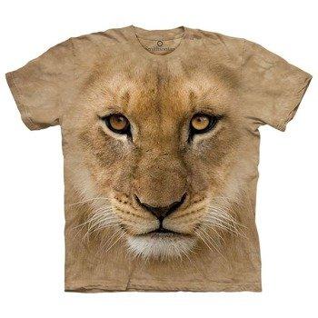 koszulka THE MOUNTAIN - BIG FACE LION CUB, barwiona