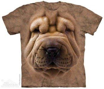koszulka THE MOUNTAIN - BIG FACE SHAR PEI PUPPY, barwiona