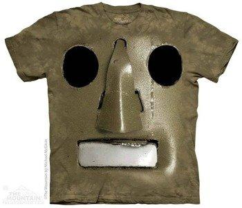 koszulka THE MOUNTAIN - BIG FACE VINTAGE ROBOT, barwiona