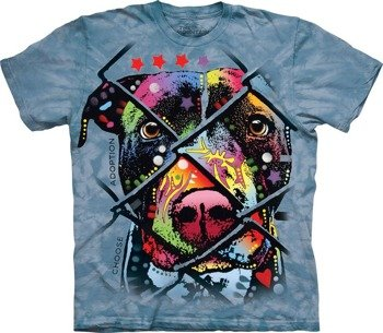 koszulka THE MOUNTAIN - CHOOSE ADOPTION, barwiona