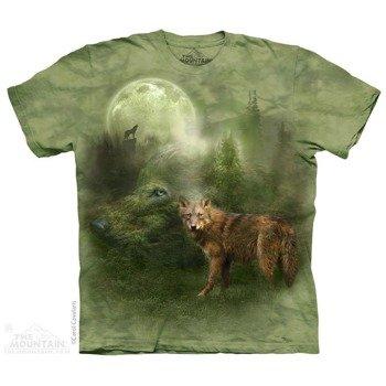 koszulka THE MOUNTAIN - FOREST SPIRIT WOLVES, barwiona