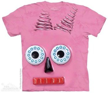 koszulka THE MOUNTAIN - PINK ROBOT, barwiona
