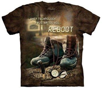 koszulka THE MOUNTAIN - REBOOT OUTDOOR, barwiona