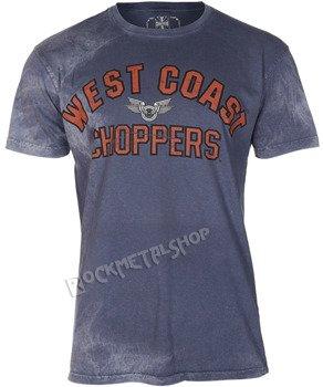 koszulka WEST COAST CHOPPERS - CREST BLOCK vintage blue