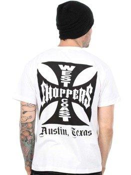 koszulka WEST COAST CHOPPERS - IRON CROSS ATX biała