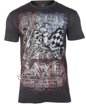 koszulka WEST COAST CHOPPERS - USA LOUD PIPE, barwiona