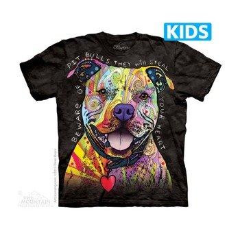 koszulka dziecięca THE MOUNTAIN - BEWARE OF PIT BULLS, barwiona