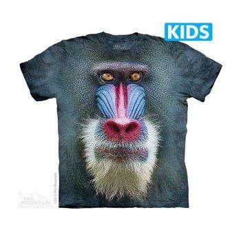 koszulka dziecięca THE MOUNTAIN - BIG FACE MANDRILL BABOON, barwiona