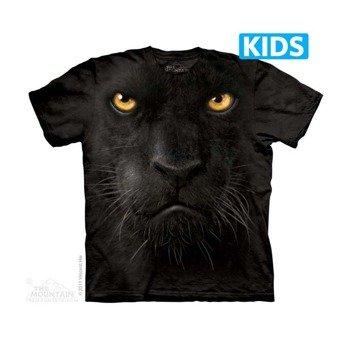 koszulka dziecięca THE MOUNTAIN - BLACK PANTHER FACE, barwiona