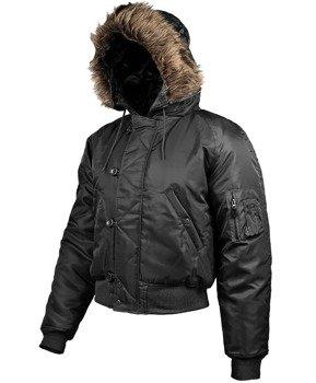 kurtka z kapturem N2B POLAR-JACKE, kolor czarny