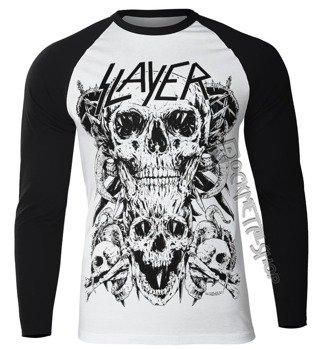 longsleeve SLAYER - SKULLS