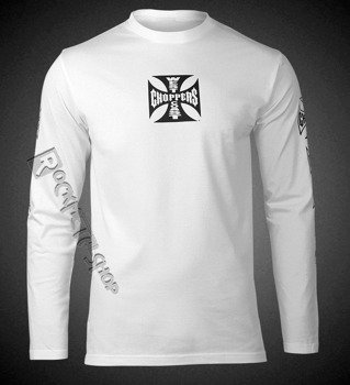 longsleeve WEST COAST CHOPPERS - CROSS, white