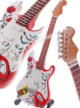 miniaturka gitary JIMI HENDRIX: MONTEREY POP FESTIVAL STRAT STYLE