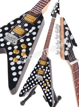 miniaturka gitary OZZY OSBOURNE - RANDY RHOADS: HARPOON FLYING V