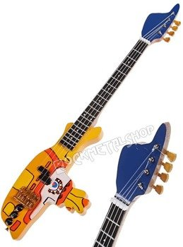 miniaturka gitary basowej THE BEATLES - PAUL MCCARTNEY: YELLOW SUBMARINE BASS TRIBUTE
