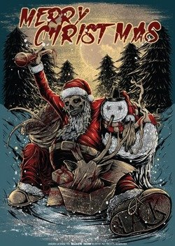 naklejka BLACK ICON - MERRY CHRISTMAS