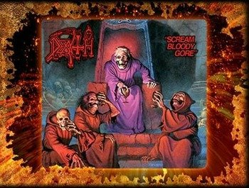 naklejka DEATH - SCREAM BLOODY GORE