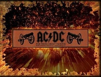 naszywka AC/DC - FOR THOSE ABOUT TO ROCK
