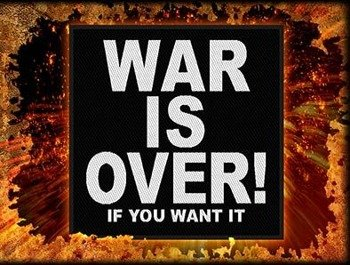naszywka JOHN LENNON - WAR IS OVER