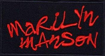 naszywka MARILYN MANSON - LOGO RED