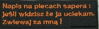 naszywka NAPIS NA PLECACH SAPERA...