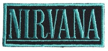naszywka NIRVANA - LOGO BLUE