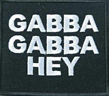 naszywka RAMONES - GABBA GABBA HEY