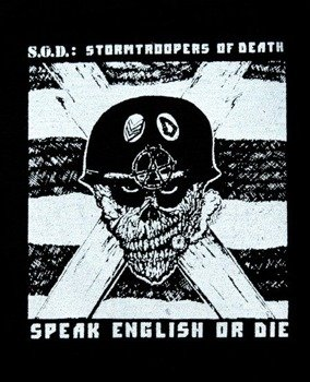 naszywka S.O.D. - SPEAK ENGLISH OR DIE