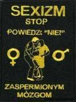 naszywka SEXIZM STOP