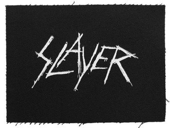 naszywka SLAYER - NEW LOGO WHITE
