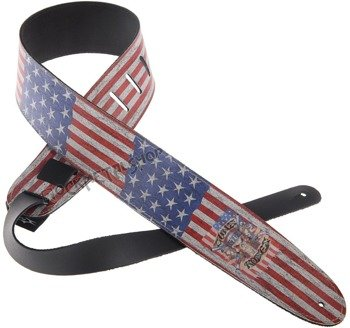 pas do gitary GUNS N'ROSES - US FLAG skórzany, 63mm