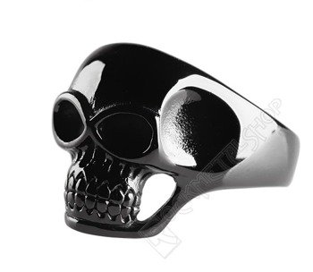 pierścień BLACK SKULL