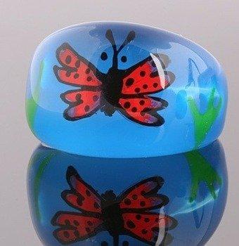 pierścień BUTTERFLY niebieski