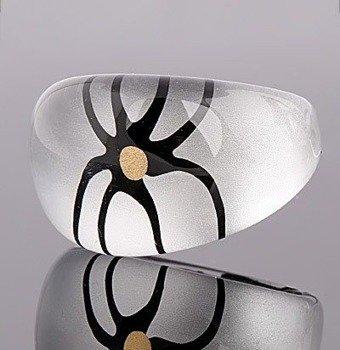 pierścień FLORAL perłowy