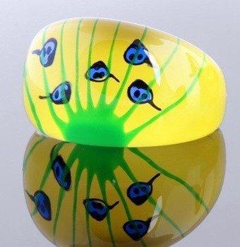 pierścień FLORAL żółty