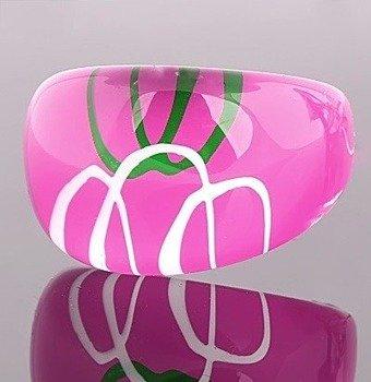 pierścień PATTERN różowy