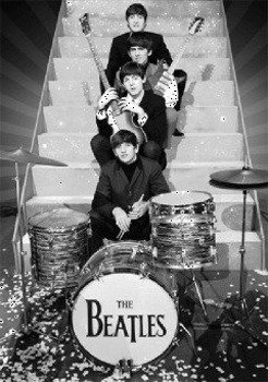 plakat 3D THE BEATLES - ON STAGE