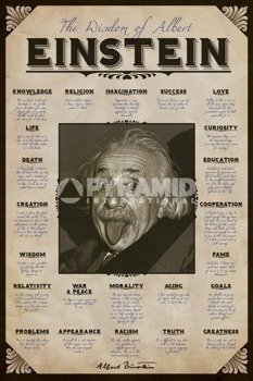 plakat ALBERT EINSTEIN - QUOTES
