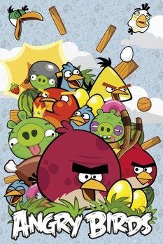 plakat ANGRY BIRDS - COLLAGE