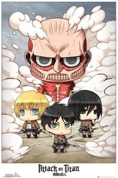 plakat ATTACK ON TITAN - CHIBI GROUP