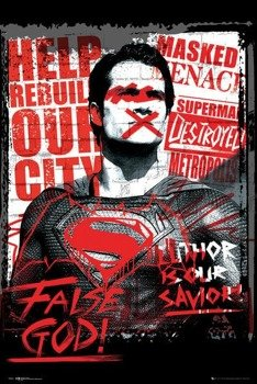 plakat BATMAN VS SUPERMAN - SUPERMAN FALSE GOD