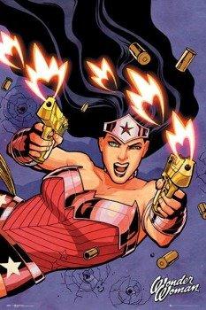 plakat DC COMICS - WONDER WOMAN SHOOTING
