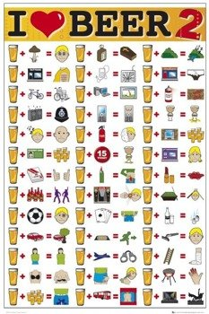 plakat I LOVE BEER